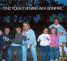 Family bonfires at Bay-Vue Resort on Big Chetac Lake - creating memories